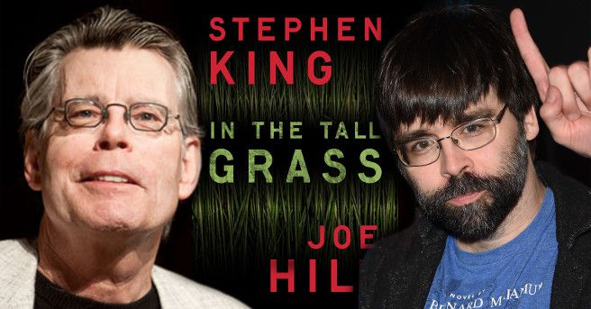 Stephen King et Joe Hill, autors of the short novel: In the tall grass, de la nouvelle : Dans les hautes herbes.