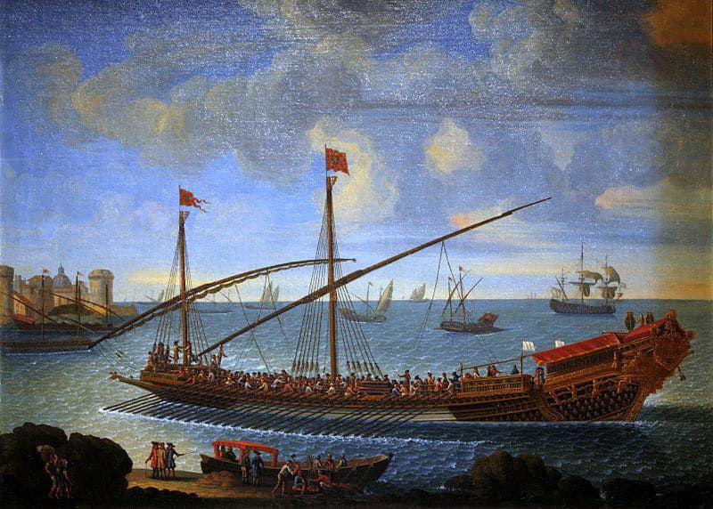 galère du 19e siècle, navire dans lesquels étaient embarqués les repris de justice, bandits, voleurs. Bien peu survivaient à l'épreuve des galères.