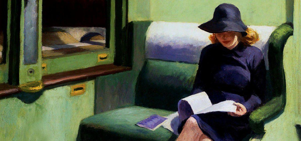 Sur la lecture, de Marcel Prouste ; illustration d'Edwaf Hopper.