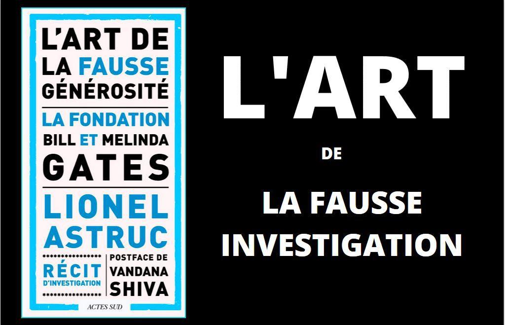 l'art de la fausse générosité, un récit d'investigation de lionel astruc aux éditions Actes Sud