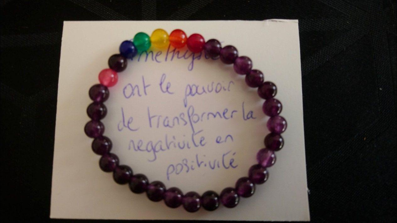 Bracelets 7 chakras Améthyste