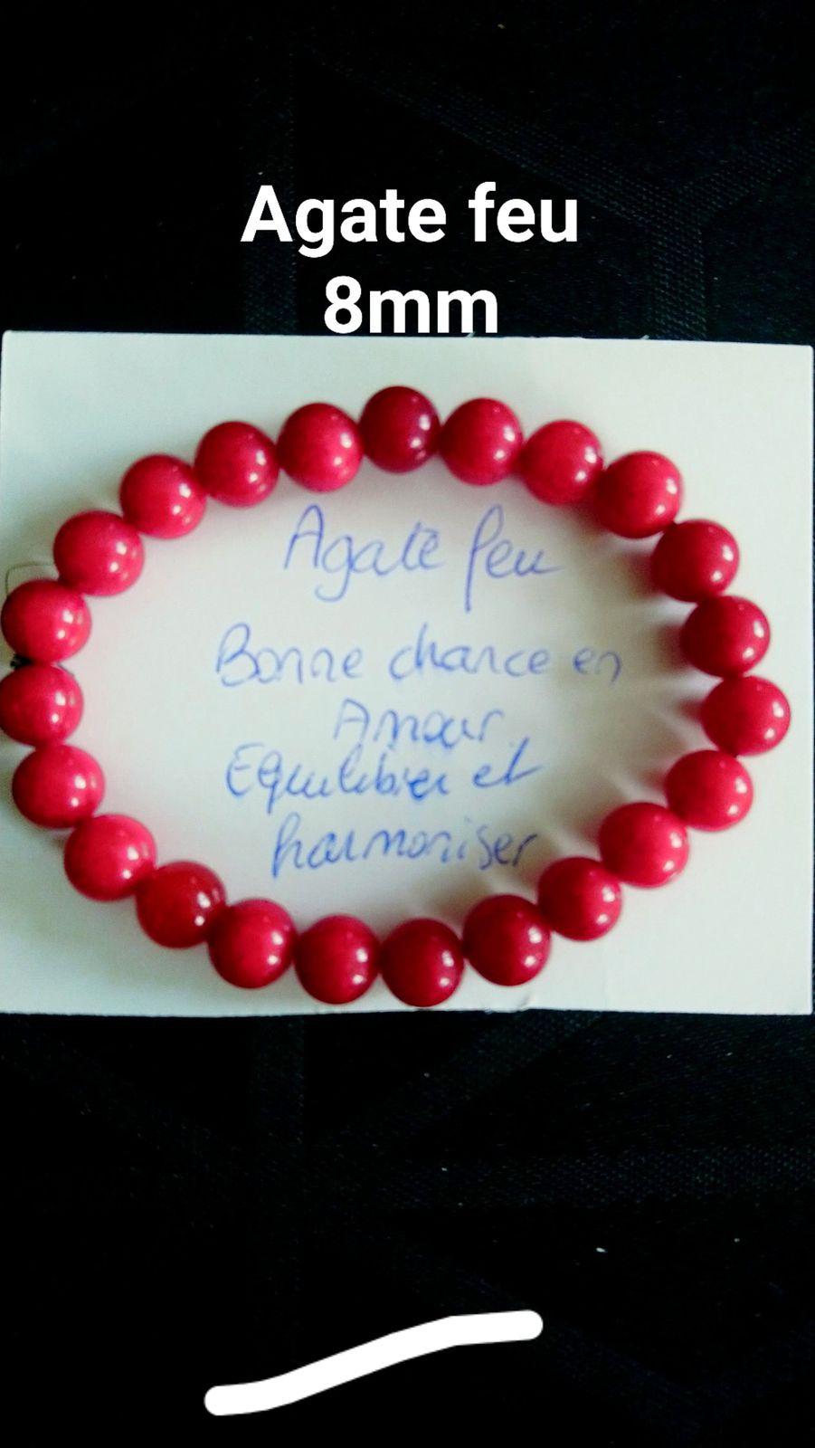 Bracelet Agate feu