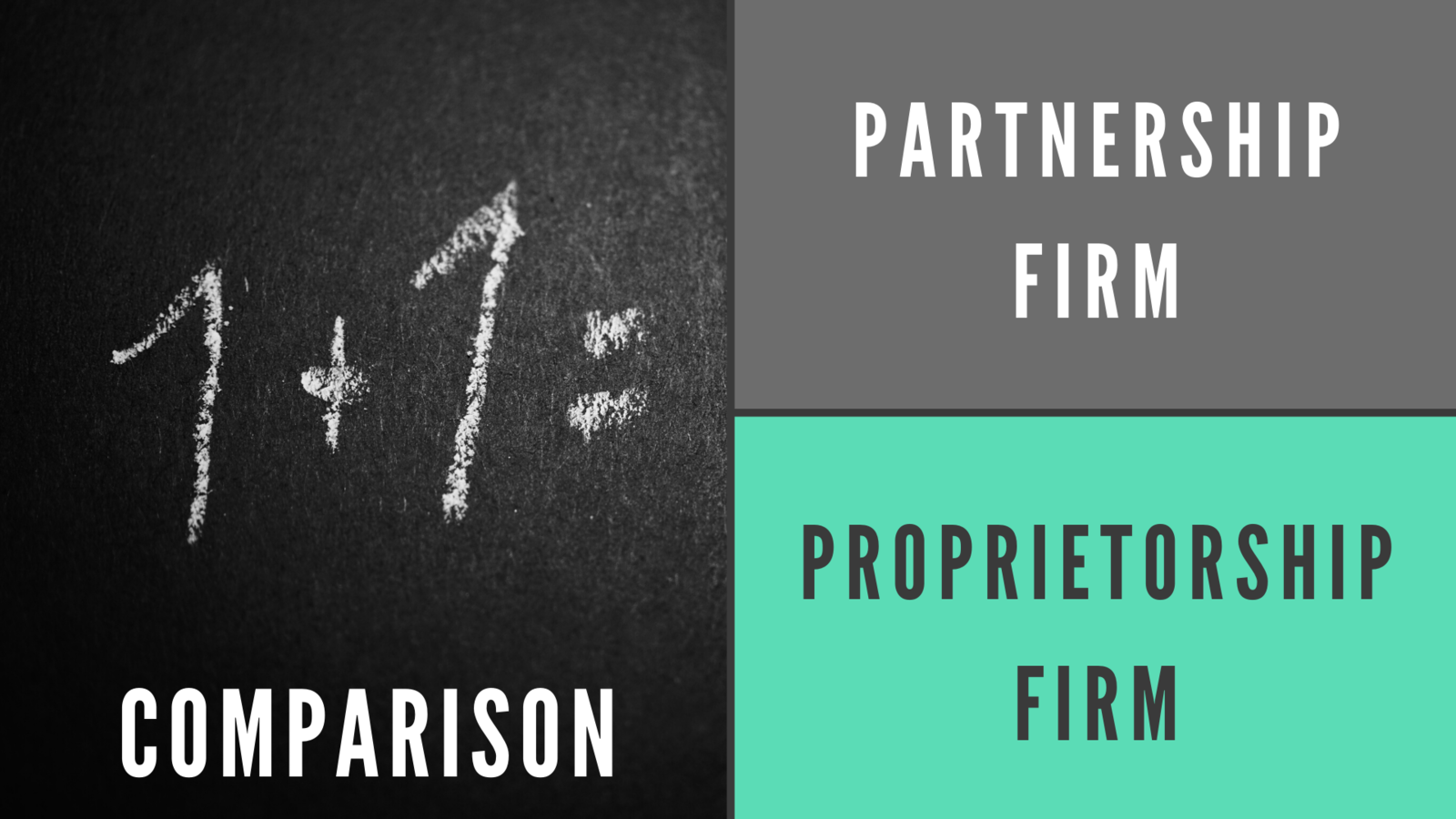Clear Comparison between Partnership Firm and Proprietorship in India