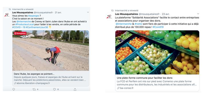 Sur Twitter, actualité et mise en avant des différentes initiatives