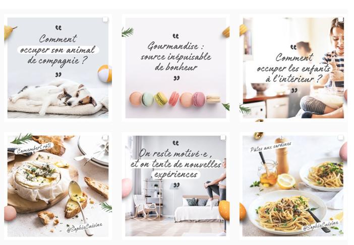 Enfants, recettes, animaux, maison, …. Le feed Instagram de Casino rythme le quotidien des consommateurs
