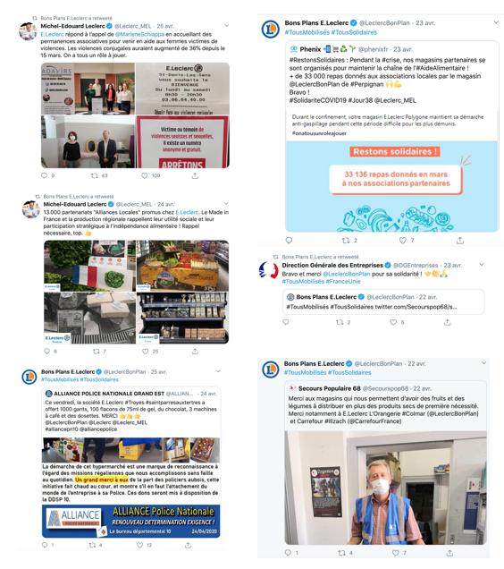 Un feed Twitter qui retrace les actualités et initiatives nationales comme locales de l'enseigne. MEL est très présent et met lui-même en avant certaines initiatives
