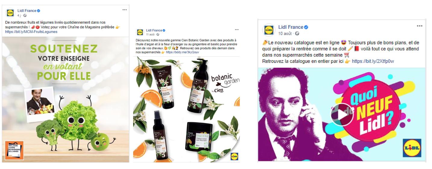 """Des posts produits qui valorisent la qualité de la MDD Cien. Lidl met également en avant l'impact des consommateurs sur la valorisation de ses offres en les invitant à voter pour le prix """"Chaîne de magasin préférée"""""""