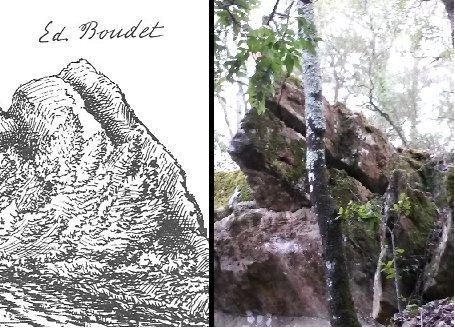 Le Serpent d'Airain ( de RAIN... de Rennes ) tel que Boudet le fit figurer dans son livre et dans le réel