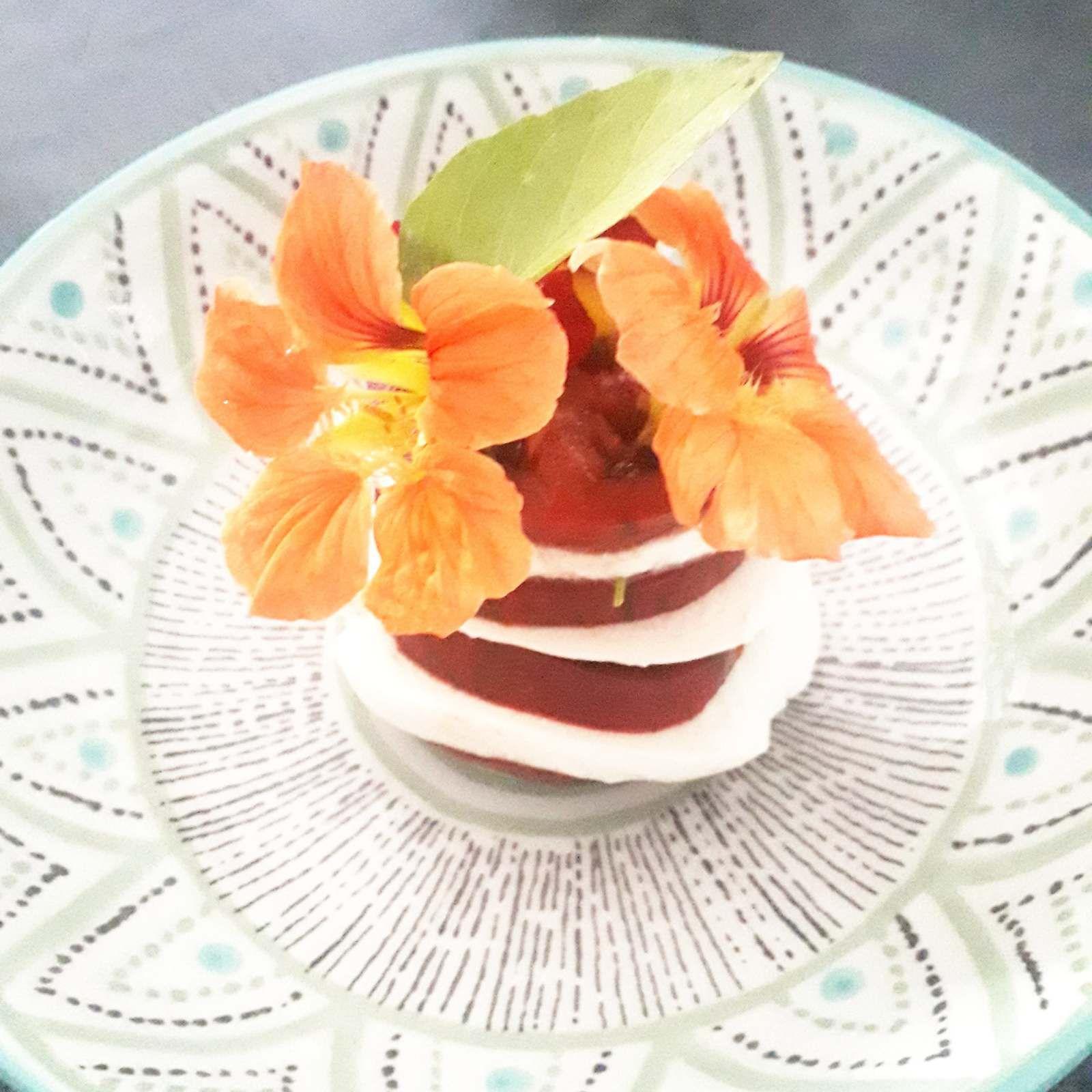 Une salade originale avec une belle note florale