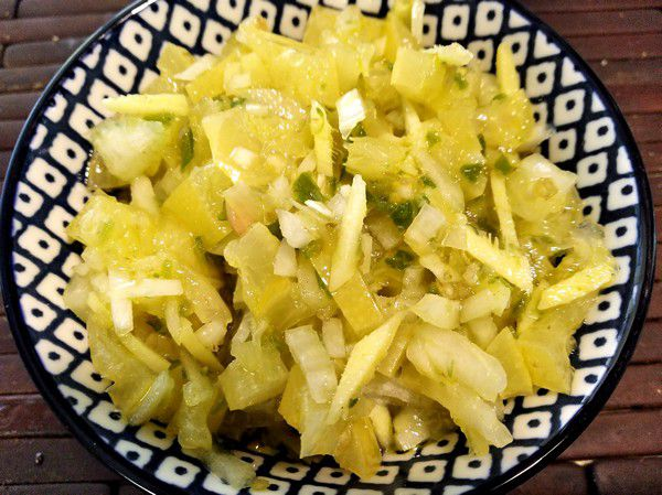 Recette rougail citron de la Réunion