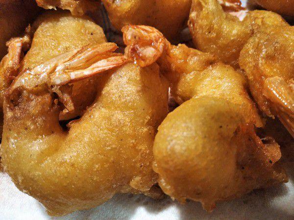 Beignets Réunion à base de crevettes