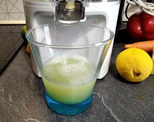 Préparation du jus de citron