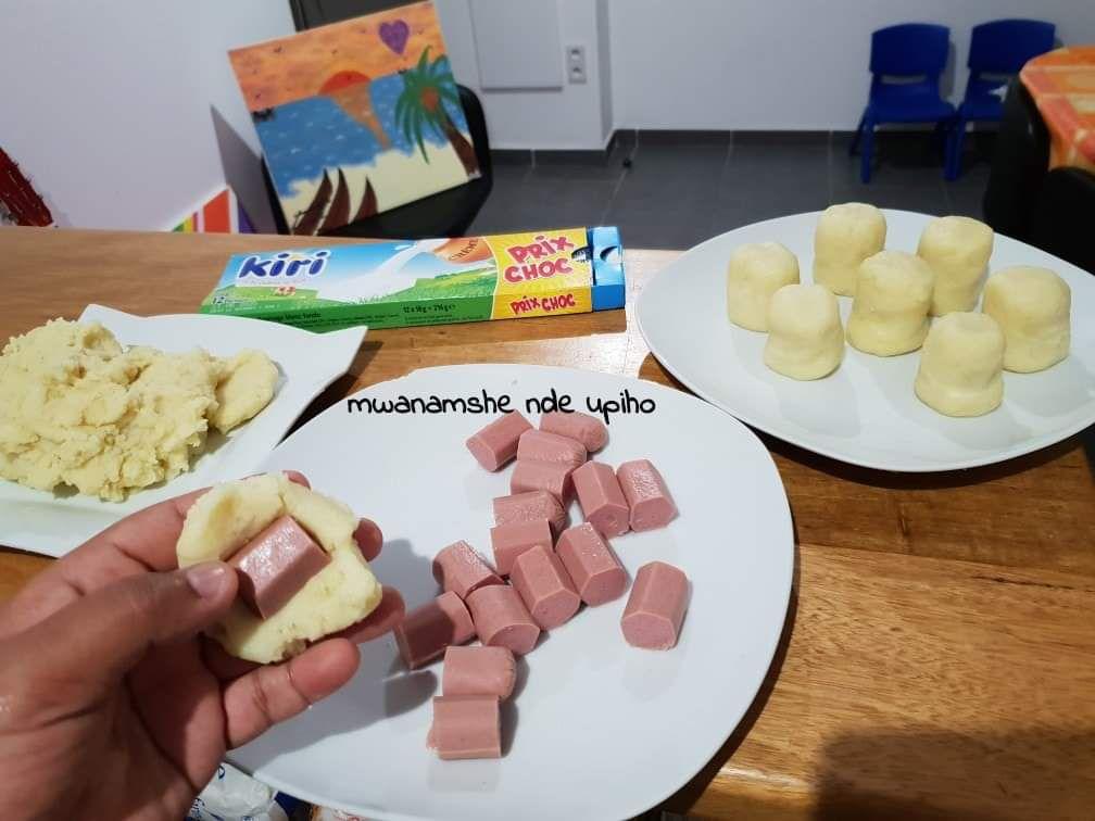 Croquettes de pommes de terre aux saucisses et kiri