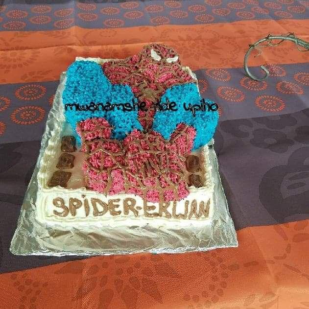 Gâteau Spiderman pour Erwan