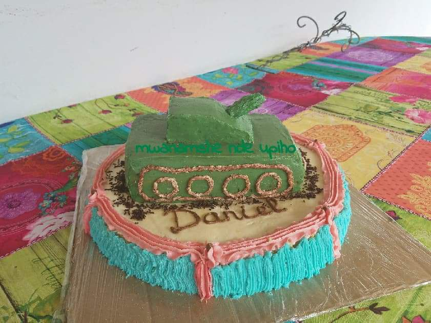 Gâteau tank pour Daniel