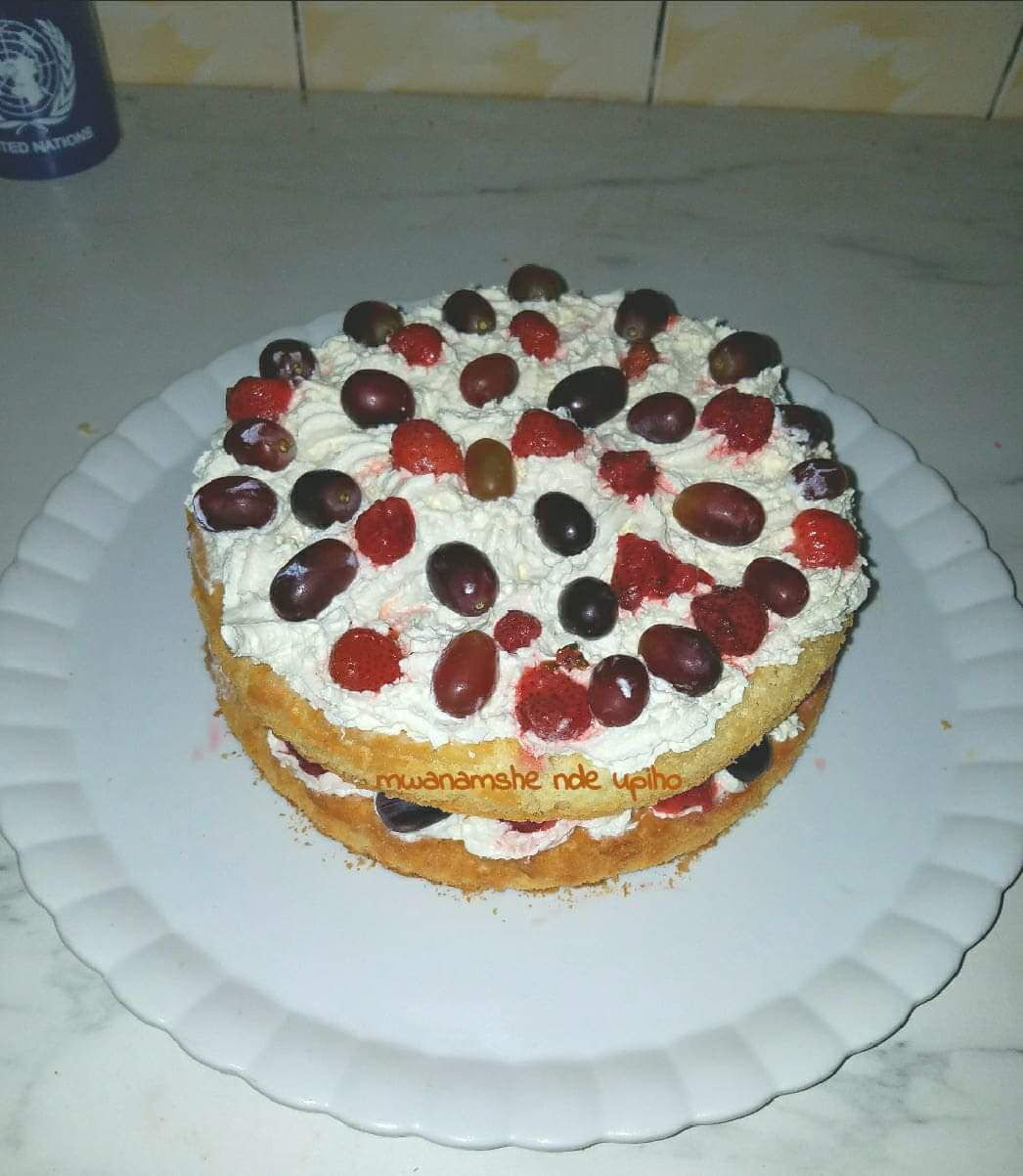 Layer cake aux fruits rouges