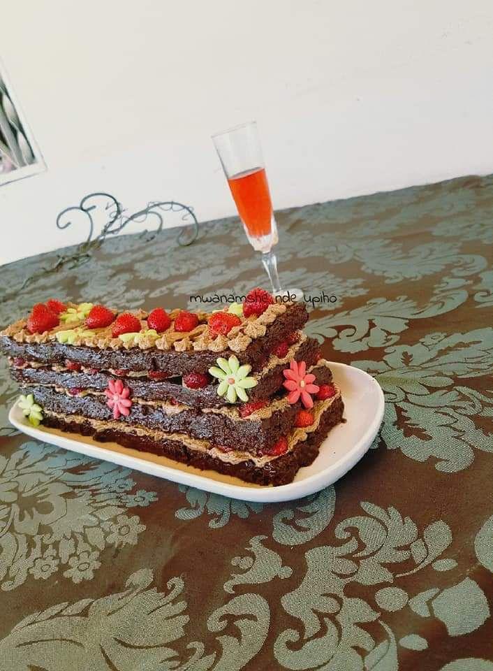 Layer cake choco café fraises