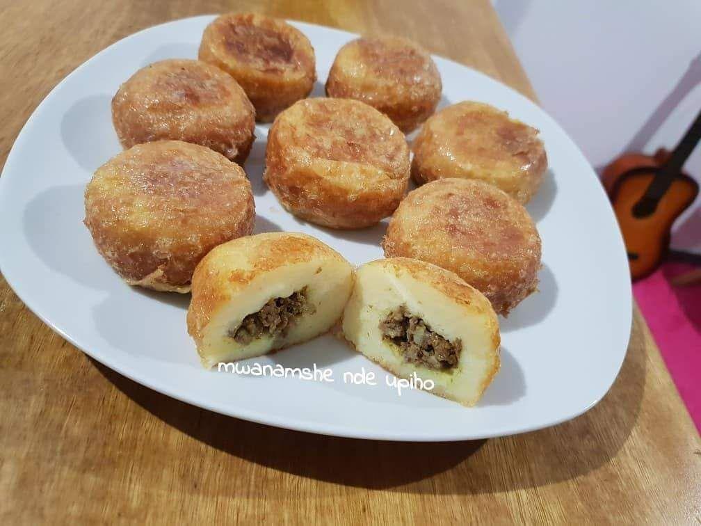 Boulettes de pommes de terre garni à la viande