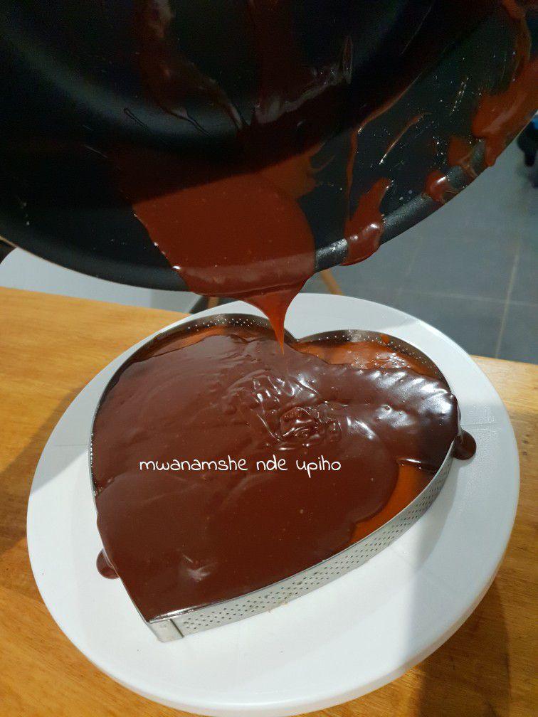 Tarte chocolat, coeur caramel beurre salé