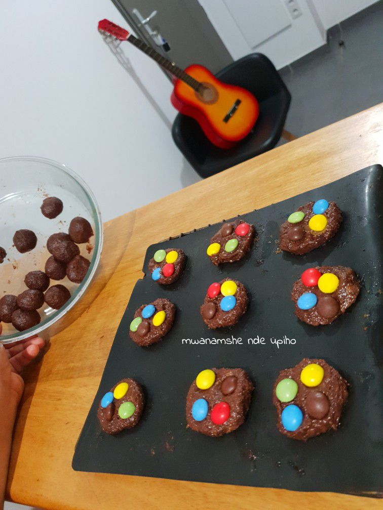Cookies-brownie aux smarties