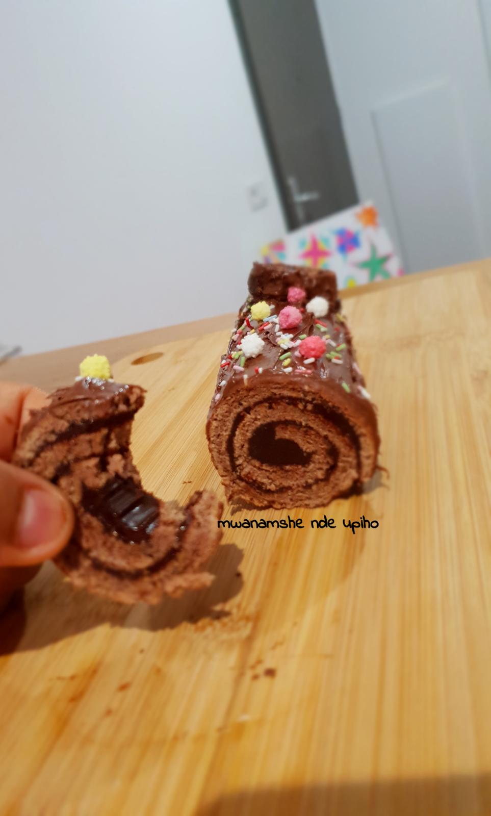 Bûche roulé au chocolat