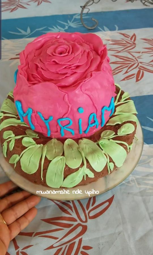 Gâteau Rose 3D en grand