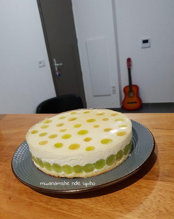 Entremet choco blanc raisin vert et menthe