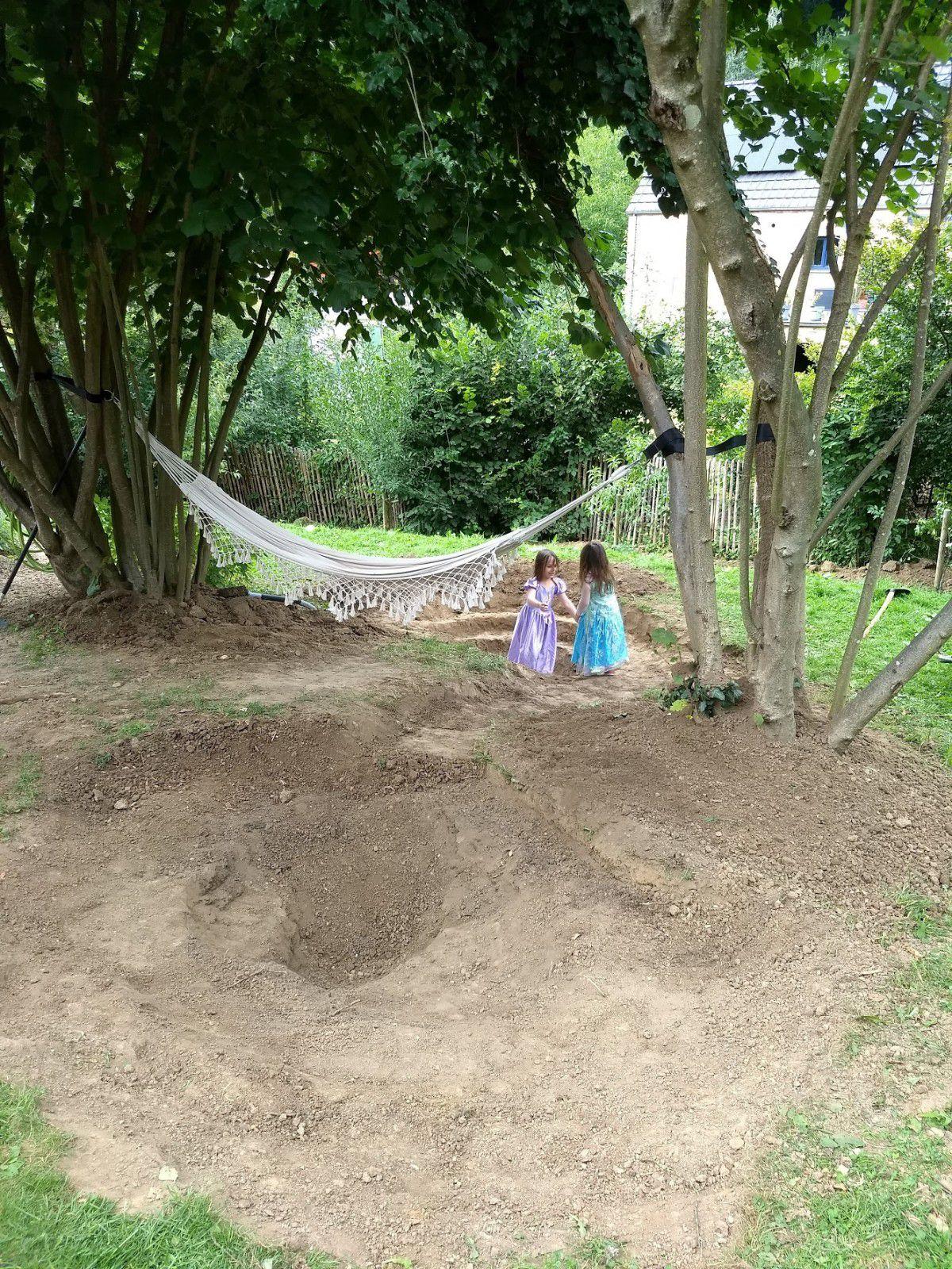 Un jardin d'eau et de rocaille (le projet - les fondations)