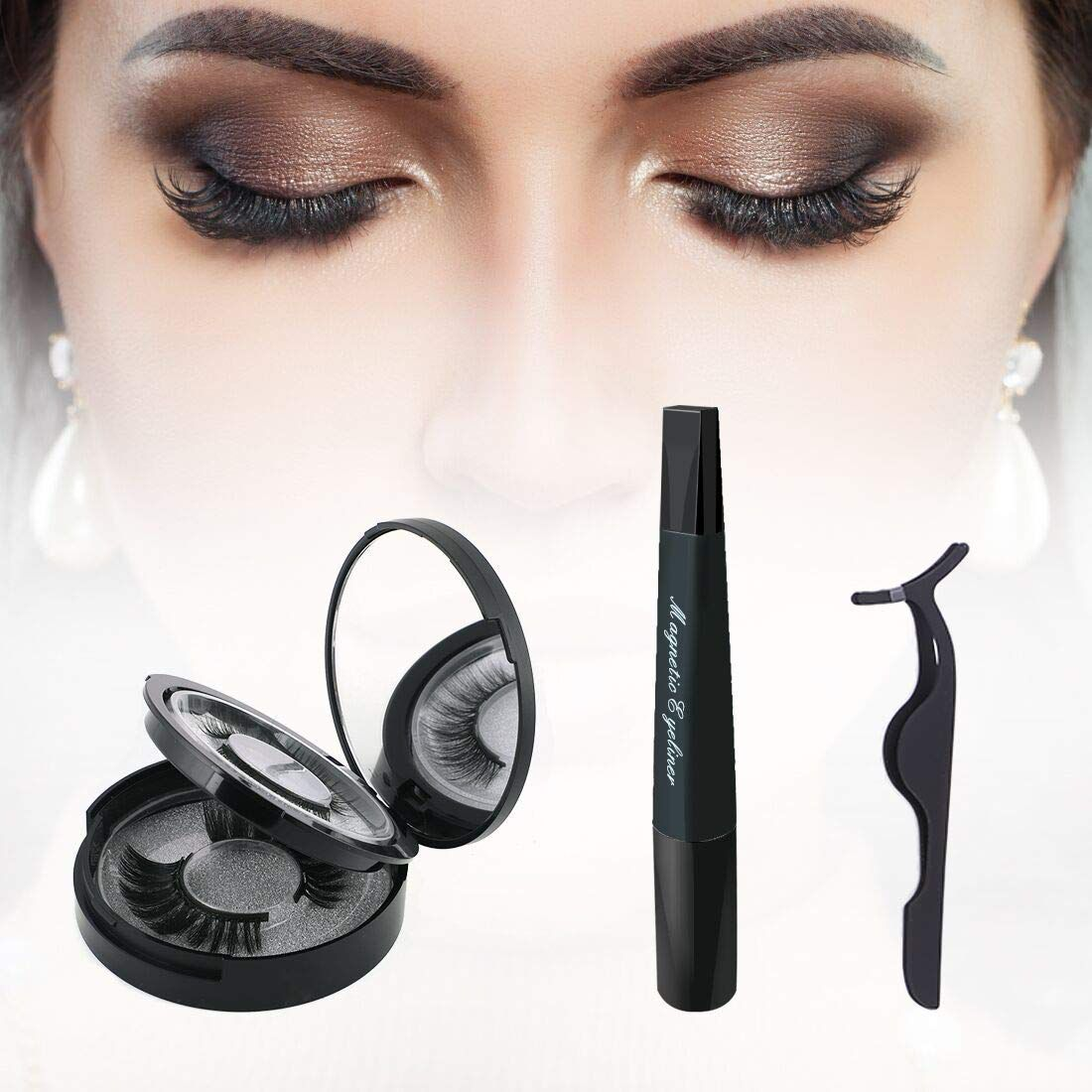 Magnetic Eyeliner, Magnetic Wimpern Set, Falschen Wimpern Magnetic