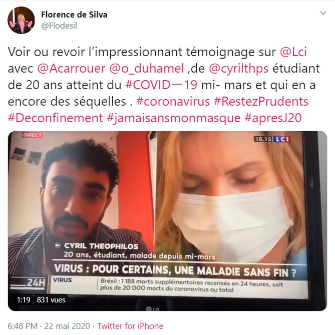 Emission  22 mai 2020 - LCI- Virus, pour certains une maladie sans fin?