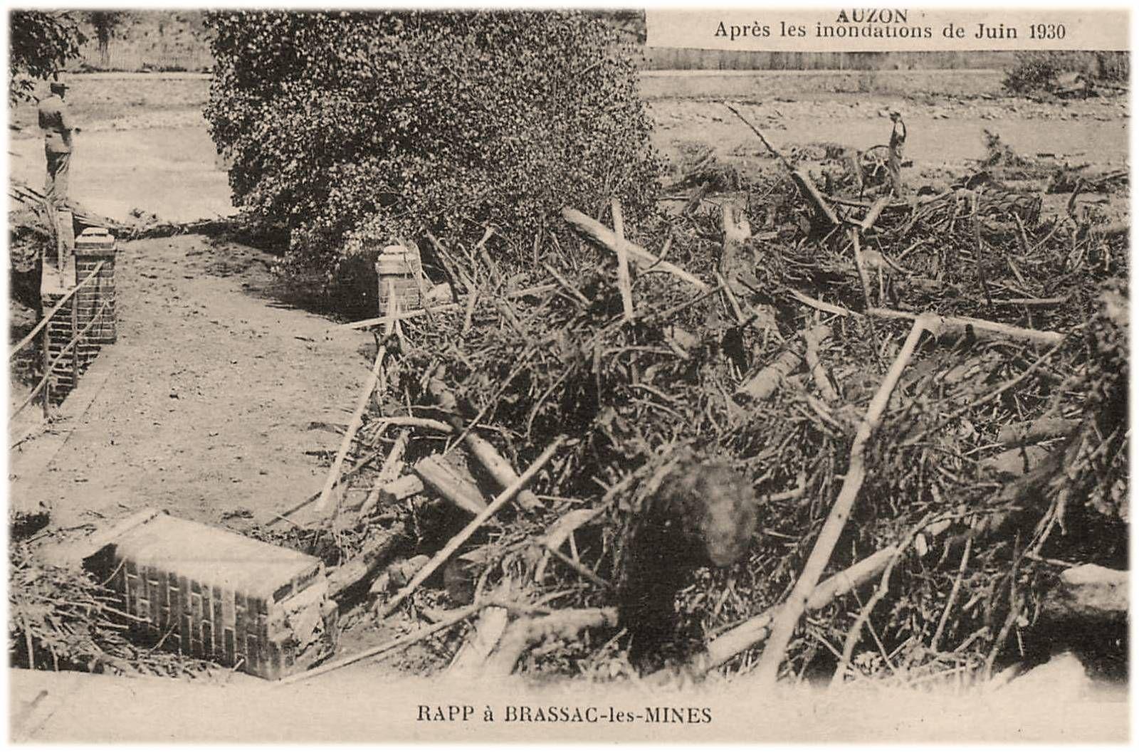 Innondation d'Auzon en 1930