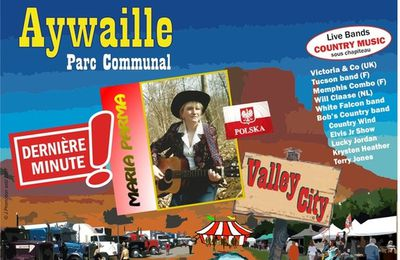 Aywaille ( Belgique) Festival Country & Western VALLEY-CITY 28, 29 et 30 juillet