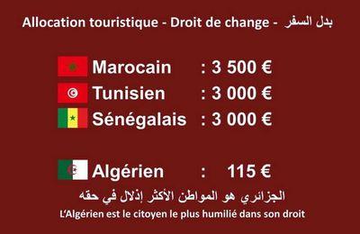 Le touriste algérien , le SDF de l'Afrique !