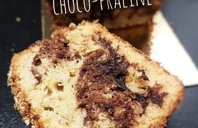 Cake marbré choco-praliné, recette au thermomix