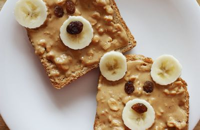 Teddy bear toast - Tartines oursons