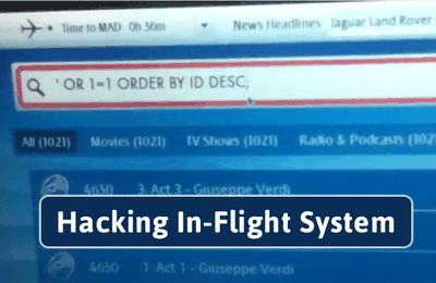 Un hacker montre comment le système de divertissement en vol peut facilement être piraté.