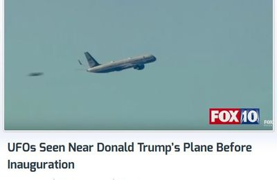 Ovnis filmés par FOX 10 Arizona près de l'avion transportant Donald Trump le 19 janvier 2017