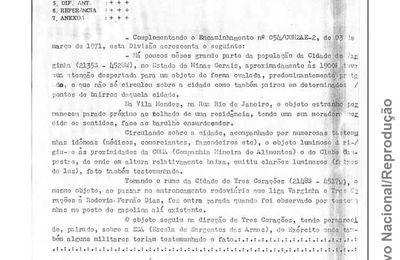 Ovni bruyant à Varginha au Brésil document du Ministère de l'Aéronautique du Brésil