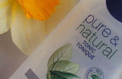 Le tonique Pure & Natural de Nivea