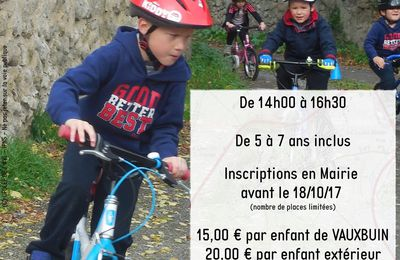Stage Kid bike - Octobre 2017