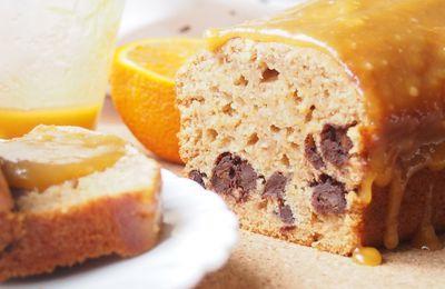 Pain d'épices moelleux aux pépites de chocolat et caramel à l'orange