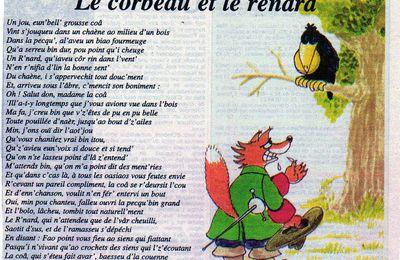 Le corbeau et le renard en patois mayennais