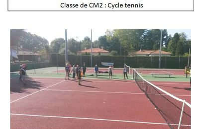 Classe de CM2 : Cycle tennis