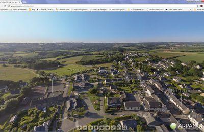 Visite de la commune par drone..