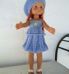 Tenue bleue pour poupée chéries de corolle