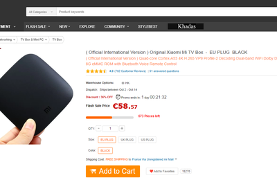 "Test de la passerelle multimédia ""Xiaomi Mi TV Box 4K"" sous Android TV 6.0 de GEARBEST"