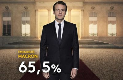 Emmanuel Macron, élu président de la république française