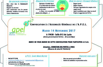 2017 11-NOV 14 ASSEMBLEE GENERALE DE L'A.P.E.L.