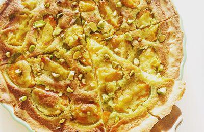 Tarte à l'abricot et crème à la pistache