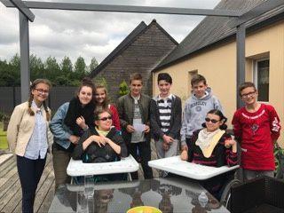 Le projet des élèves des 4ème et 5ème aumônerie de St Herblon